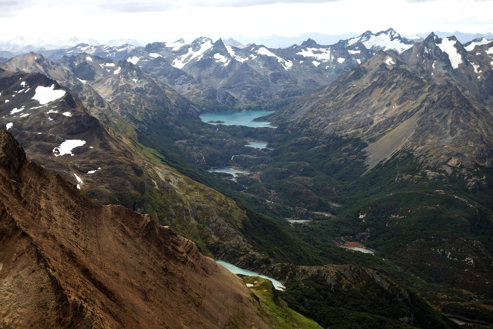 Looking northwest from the summit of Cerro Tonelli, Argentine Tierra del Fuego