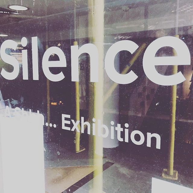 Entering Silence from @spacetobreathecic has become an exhibition - open all day at 35 Chapel Walk Gallery in Sheffield - go check it out if you can