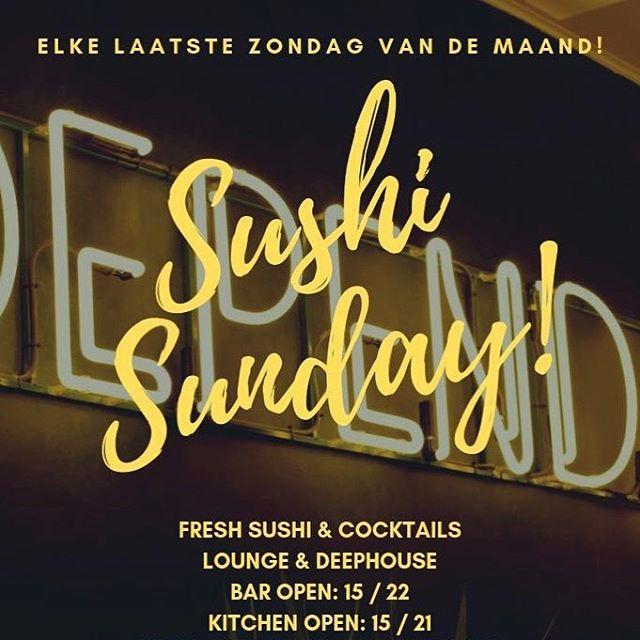 Mocht je nou geen flauw idee hebben wat je moet doen op je vrije zondag.. SUSHI SUNDAY🍣  De beste combinatie in town, cocktails en Sushi!  Wie zien we zo?  #sushi #sunday #sushisunday #gouda #dependancegouda #aandemarkt #lekker #food #fun #friends #enjoy #genieten #vandaag #zondag #weekend #van1500 #tot2100