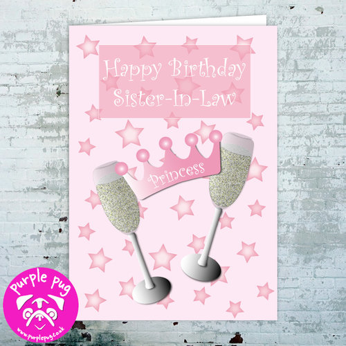 Happy Birthday Sister In Law Greeting Card