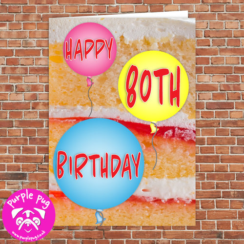 Happy 80th Birthday Greeting Card