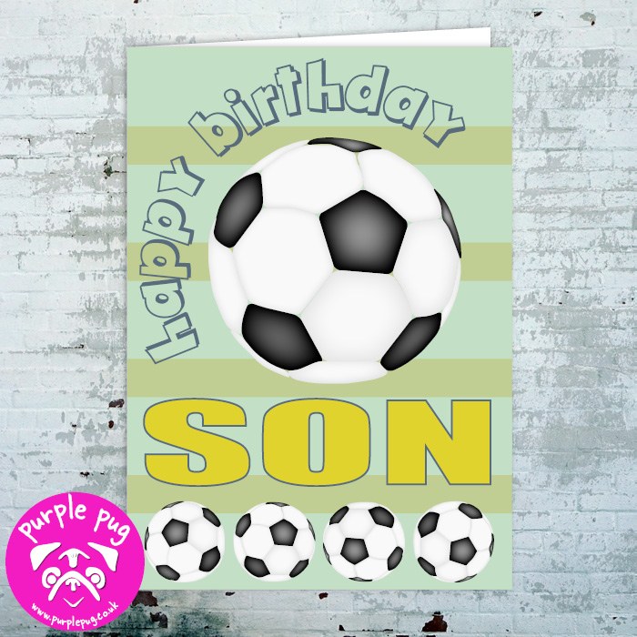 Stupendous Premium Happy Birthday Son Greeting Card Purple Pug Personalised Birthday Cards Paralily Jamesorg