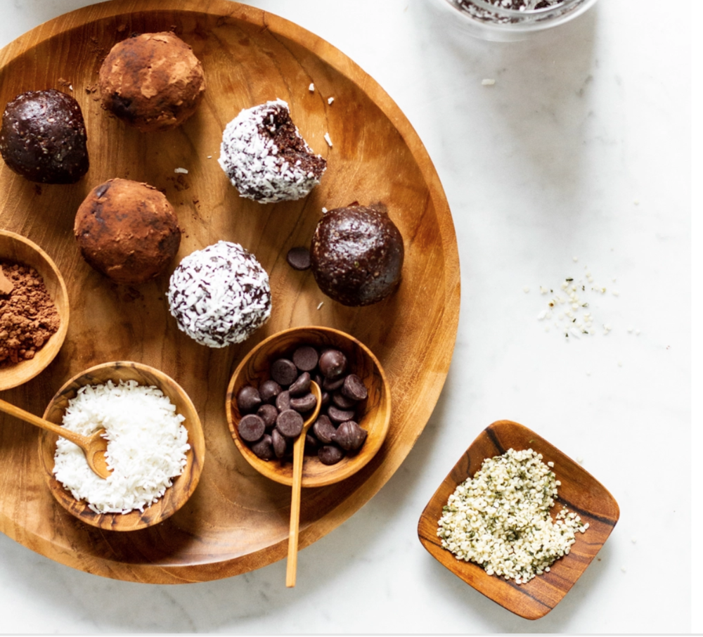 Easy chocolate hemp protein balls by Oh She Glows