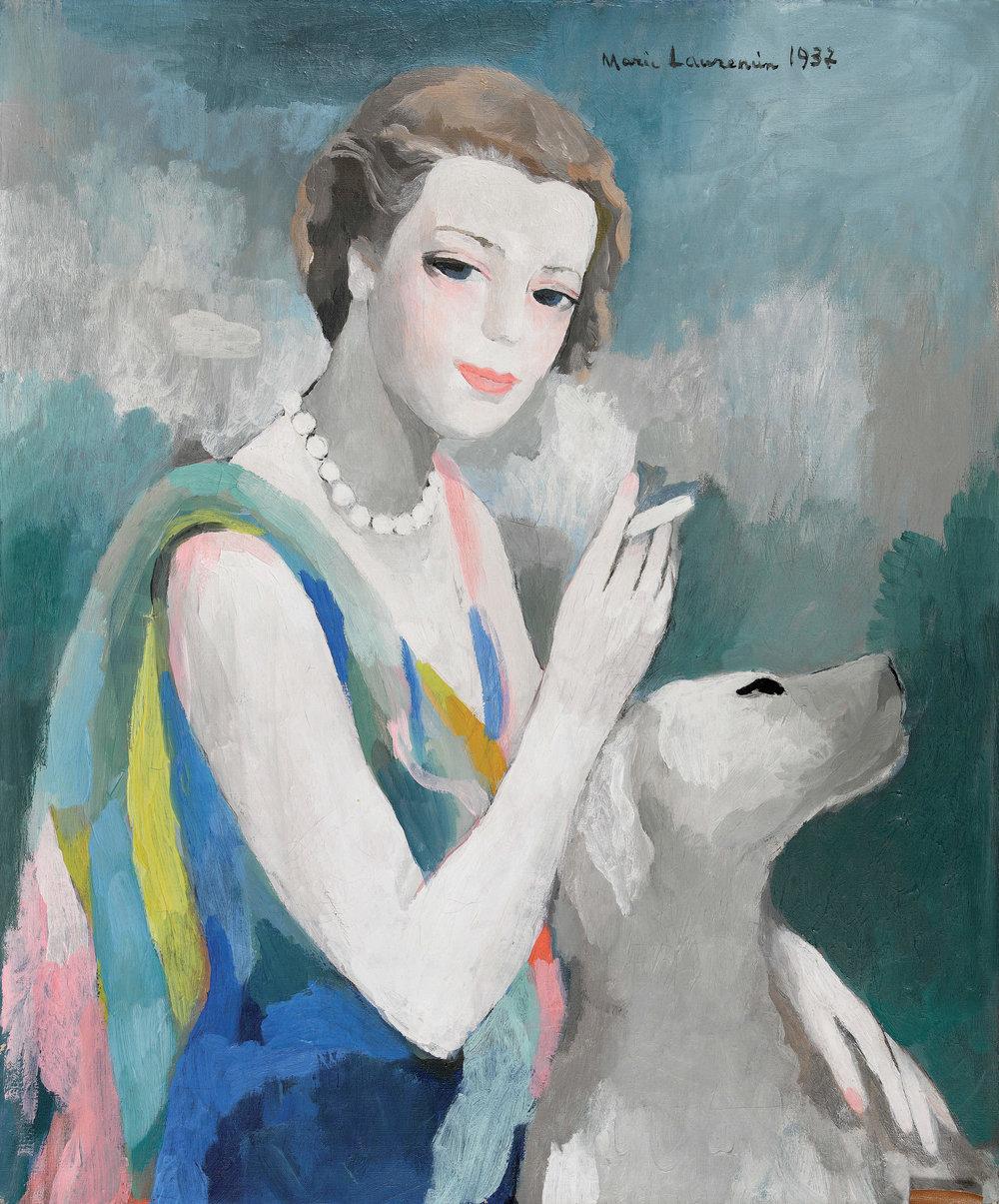 Portrait de Marcelle Dormoy par Marie Laurencin, Paris 1937