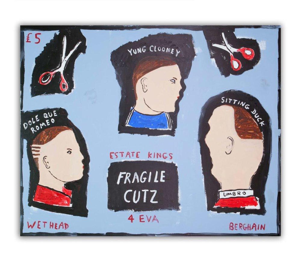 'Fragile Cutz' - Acrylic on canvas - 130 × 160 cm.