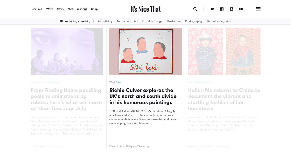 Richie Culver feature on It's Nice That