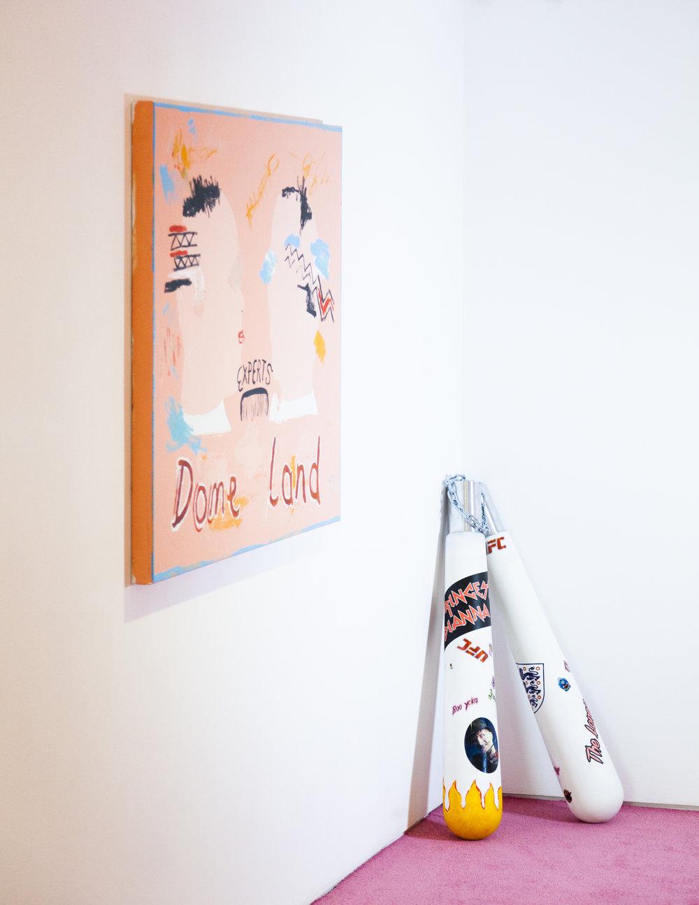 Mums princess Dianna Callander, acrylic on canvas, 2018, abstract art. Humber Street Gallery. Richie Culver.