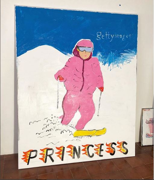 Lady Diana on the slopes 1982