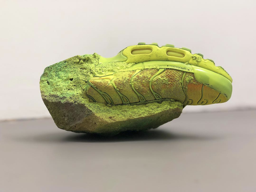 Richie Culver - New Work - Speed Garage Cement, lacquer and Sports Shoe Dimensions variable 2019