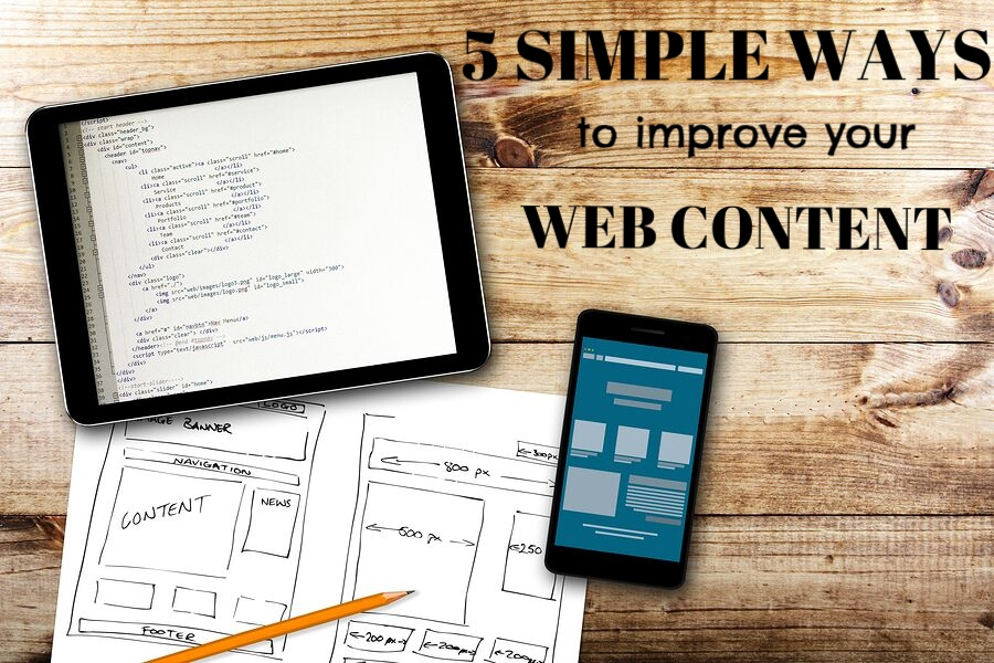 '5+simple+ways+to+improve+your+web+content'+over+image+of+mobile+device+tablet+smartphone.jpg