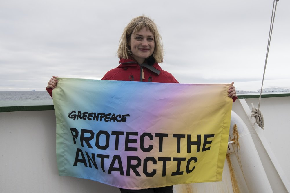 - Alison Sudol boarded a Greenpeace ship earlier this year for a firsthand look at how important it is to protect the beauty of the Antarctic.