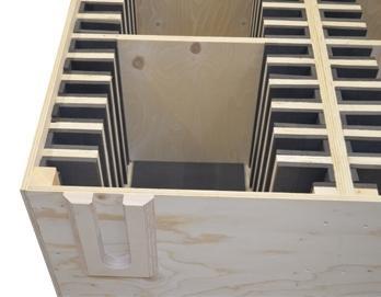 Verpakkings-industrie - Onderdelen van industriele verpakkingen zoals scharnierklossen, tussenliggers en panelen.