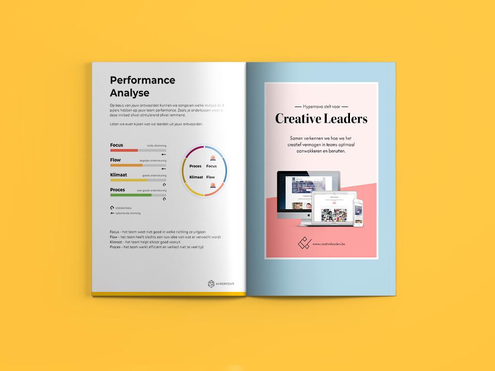 Iedere deelnemer ontvangt een persoonlijk performance rapport waarin we schetsen op welke vlakken hun organisatiestructuur goed en minder goed scoort.