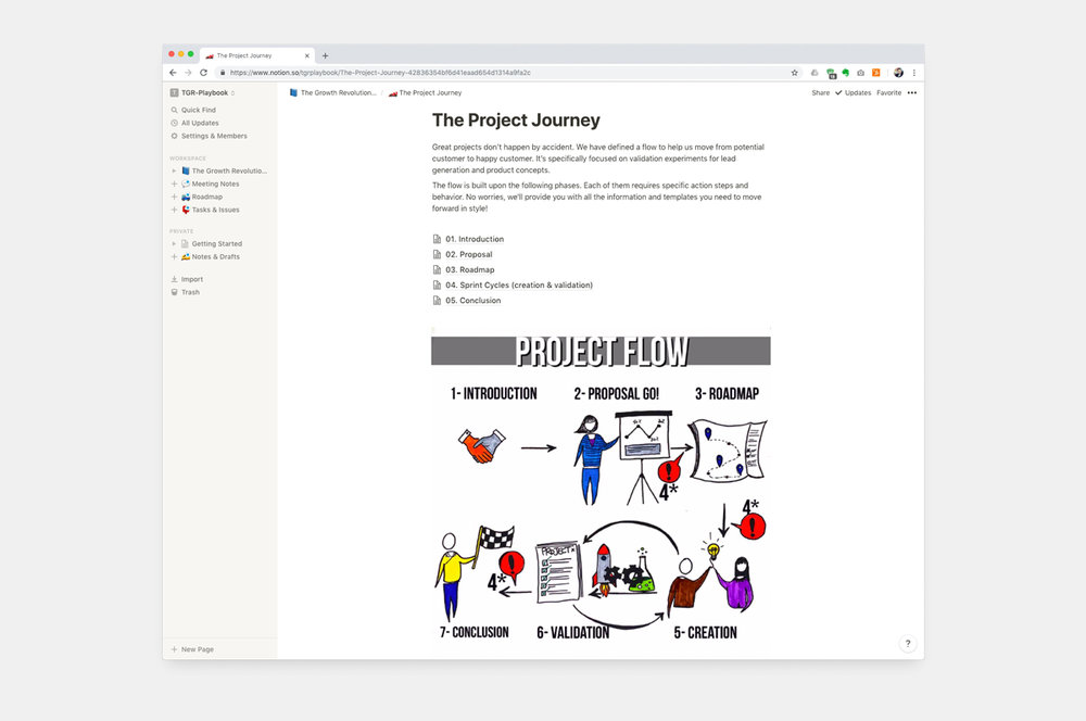Procesdocumentatie voorbeeld - The Growth Revolution Workflow