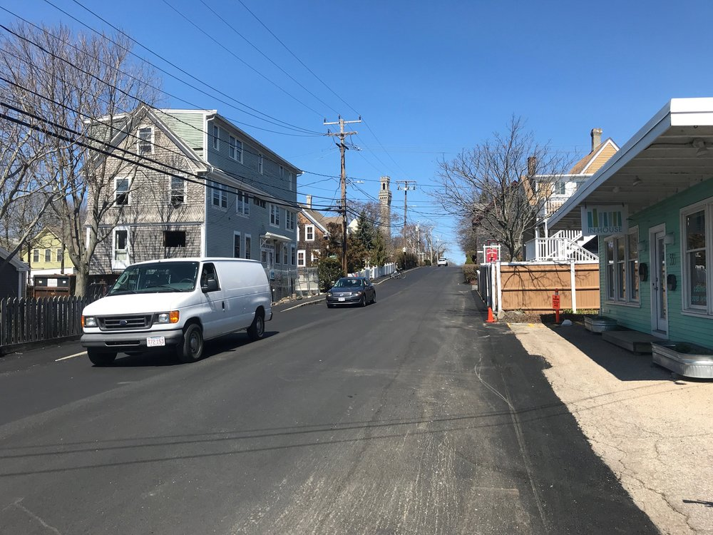 Bike lane coming soon! It will be painted on the right heading up the hill from Central St. to Carver St.