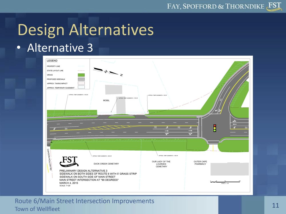 Design Alternative 3 for the intersection of Route 6 and Main Street in Wellfleet still lacks any bicycle crossing facilities.