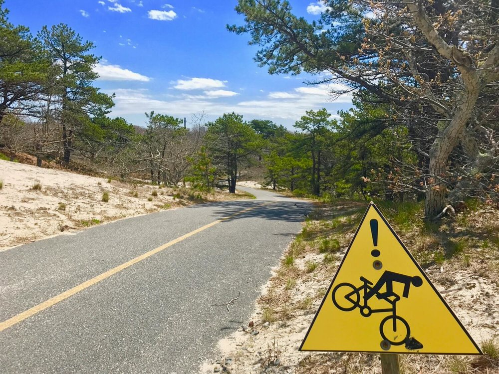 Heed the warning signs on the Province Lands Bike Trail!