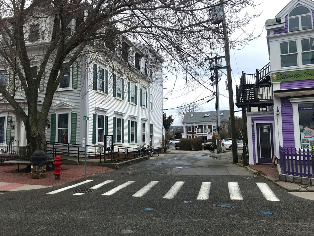 Narrow, one-way Freeman Street in Provincetown is often used as a cut-through by people on bikes to avoid congestion and get from Standish Street to Commercial Street.