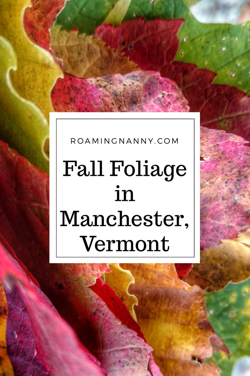 Fall Foliage in Manchester, Vermont