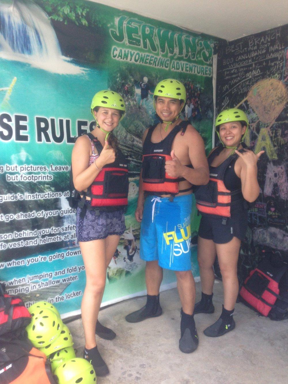 Canyoneering Kawasa waterfall Philippines - 2