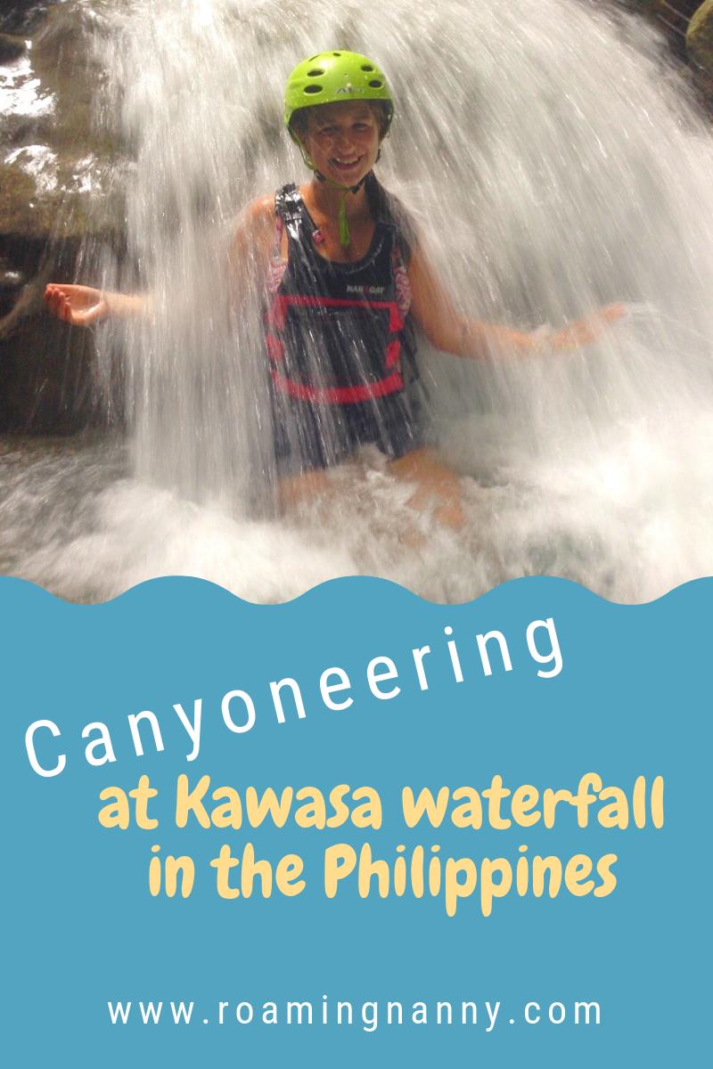 Canyoneering at Kawasa waterfall in the Philippines - Roaming Nanny