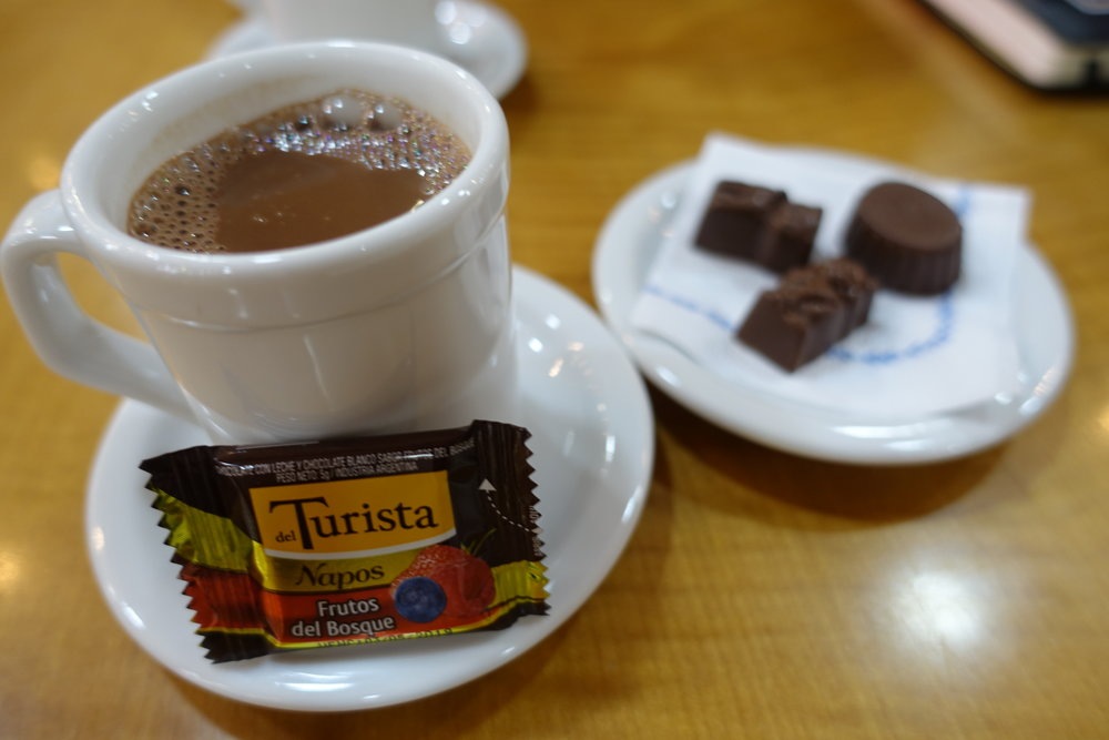 Visit Ushuaia Argentina hot chocolate