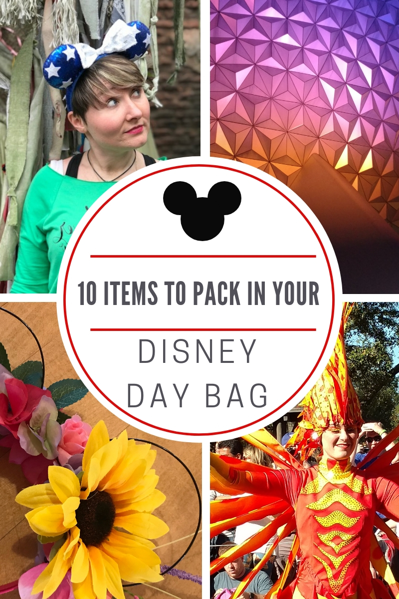 10 items to pack in your Disney day bag
