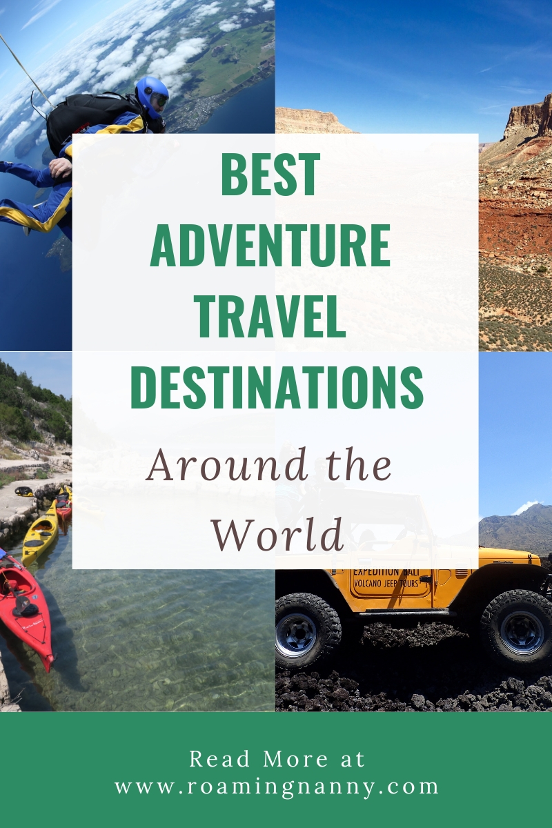 Adventure can be found near and far. Here are some of the best adventure travel destinations around the world #adventuretravel #adventureisoutthere #aroundtheworld