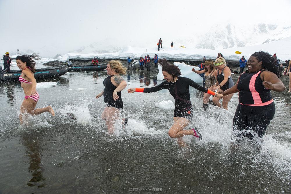 Antarctica Polar Plunge. Photo Credit: Esther Kokmeijer