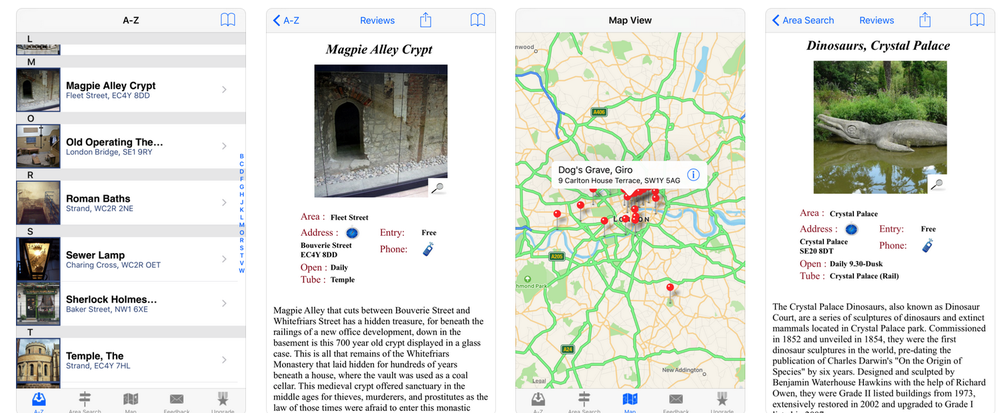 Best Apps for your trip to London Hidden London App