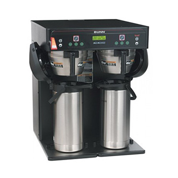 Brews into 3.8 to 5.7L ThermoFresh® servers for easy transport    Three separate brewing profiles on each side    BrewWISE® intelligence for maximum flavor extraction    Compatible with BUNNlink®    Digital display for easy programming    Energy-saver mode    Large 21.2L brewing capacity
