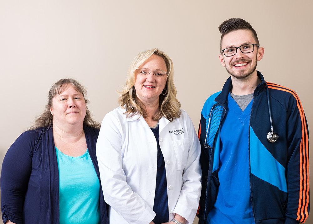 Heidi Melton, Dr. Kelli Sabin, and Kyle Brown