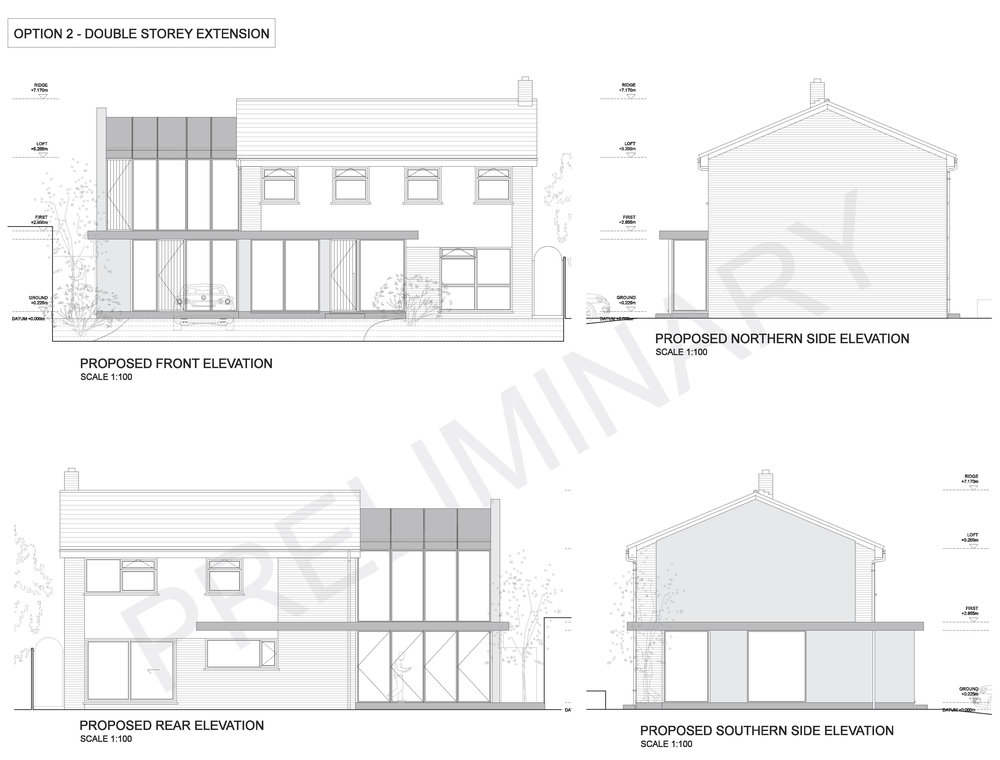 Stage 2: Planning Permission - Recommendations and development of best planning application strategy based on conceptPlanning issue drawings & documents based on final client approved designPlanning application submission and liaison with Local Authority to achieve approval(fixed fee covering stages 1 & 2)