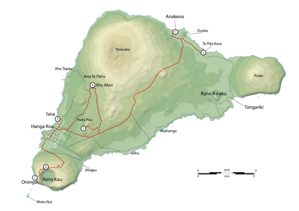 Map of tour route 1