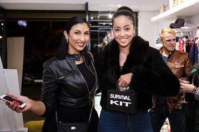 @misskay_sa x @officialnizreen  Dazzling in our store last night with their @headoverheartsa survival kits. 🌸 Welcome to @_cartye ladies  #hohsalaunch #hohsaxcartye
