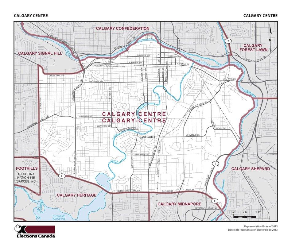 Calgary Centre Map