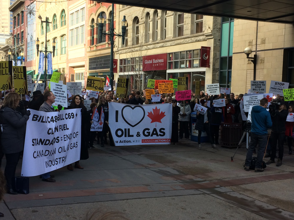 Hundreds of Calgarians came out to share their views with Finance Minister Bill Morneau on November 27. Did he hear them? (Photo credit: Greg McLean)