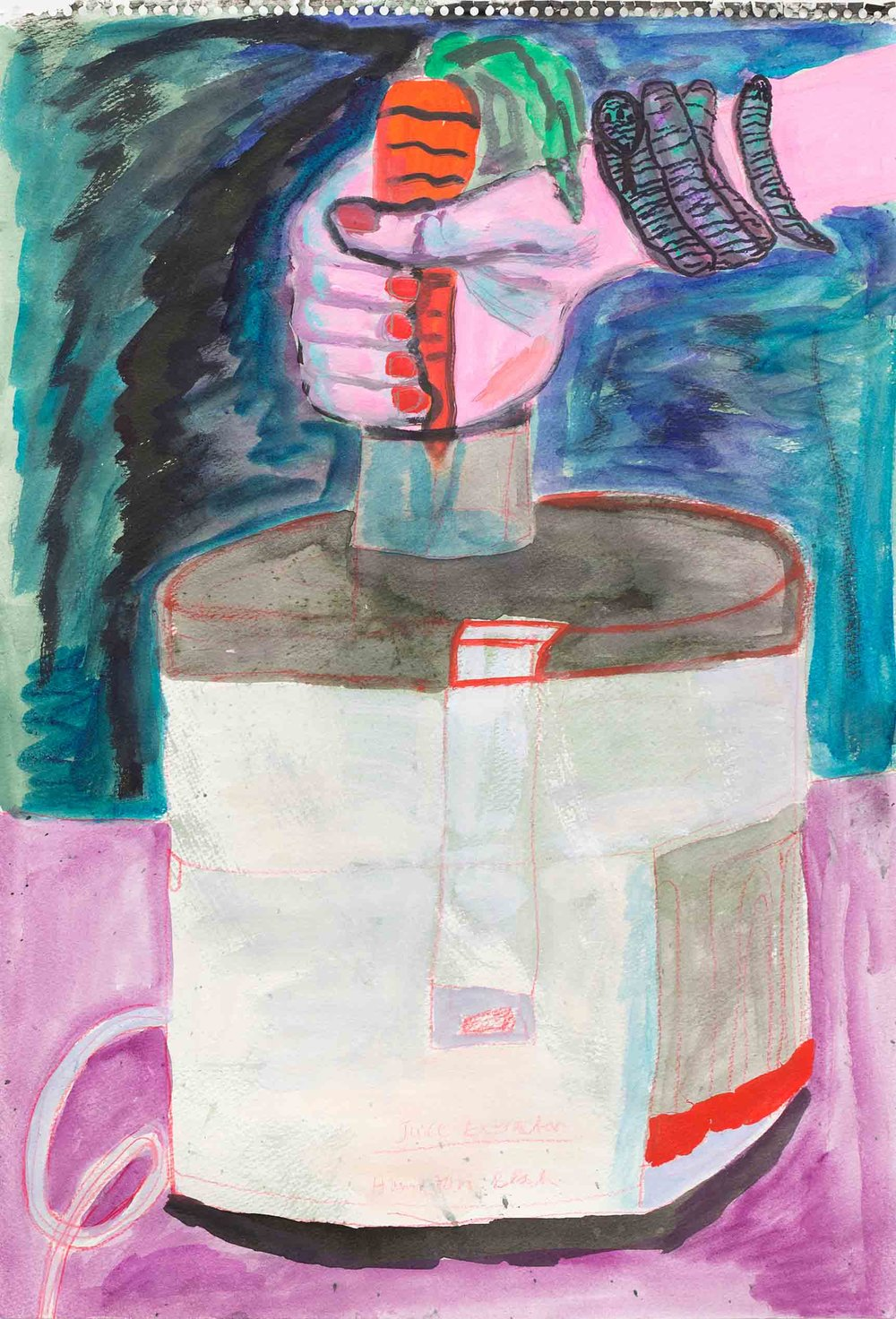 Juicing at Night, 2015, 22 x 15 inches, $300