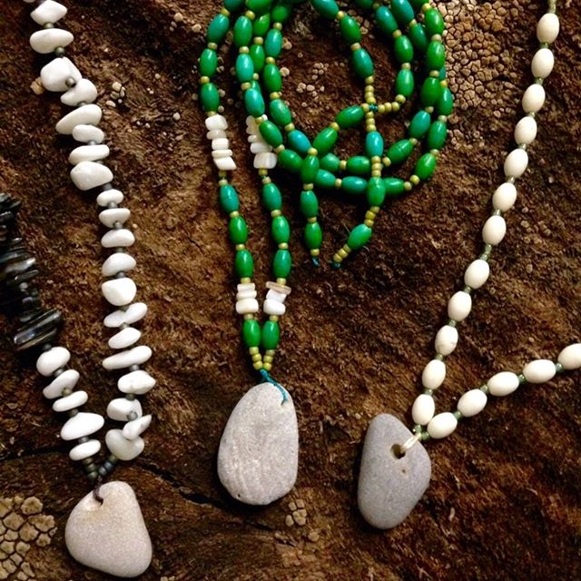 New workshop!  Join us on Tuesday, Feb. 26 from 11a - 1p. All supplies included! Register online here: http://ow.ly/EG6z50kkCyl  Is the beach your happy place?  Choose from an assortment of genuine stone, shell & glass accent beads with a very special focal!  Sharing my cherished hand-gathered collection from the shores of Lake Michigan, choose your favorite lore-filled nature-made-hole focal stone.  Water-worn and sand-kissed, adorn yourself with one of these hard-to-find beauties, and have the comfort of the water always near you!  Create your favorite design in your favorite length, all supplies included!