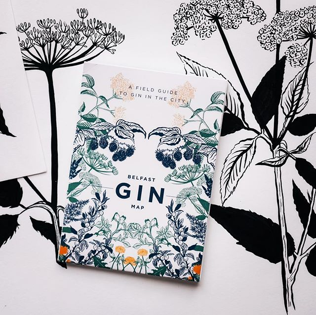 The perfect little stocking filler for design lovers, budding botanists and, of course, those in search of Belfast's best gin! Every gin map has been designed, printed and parcelled here in Belfast #gininthecity  #shoplocal #stockingfiller #christmas