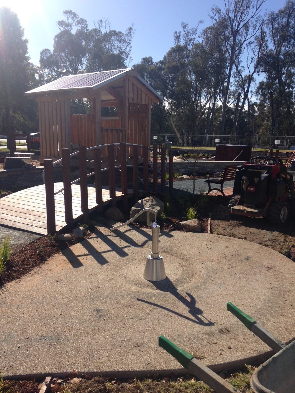 Hopwood Gardens Playground Project Update New Water Feature Install 25th July 2017 (002).jpg