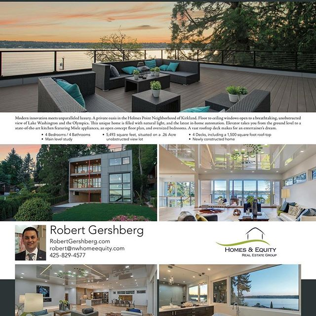 Check us out in the next issue of @luxuryhomemagazine #luxuryrealestate #seattlerealestate #lakewashington #holmespoint #pnw