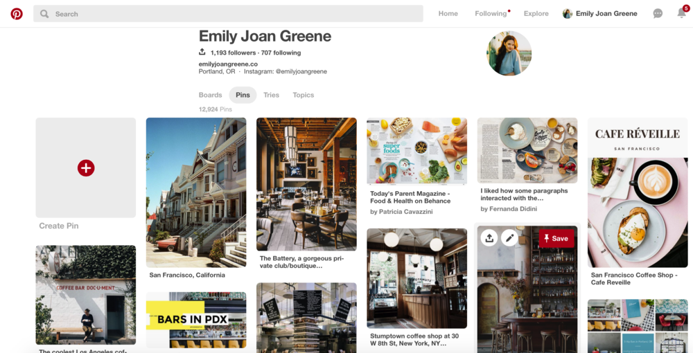 PINTEREST - is a great visual tool to find places.