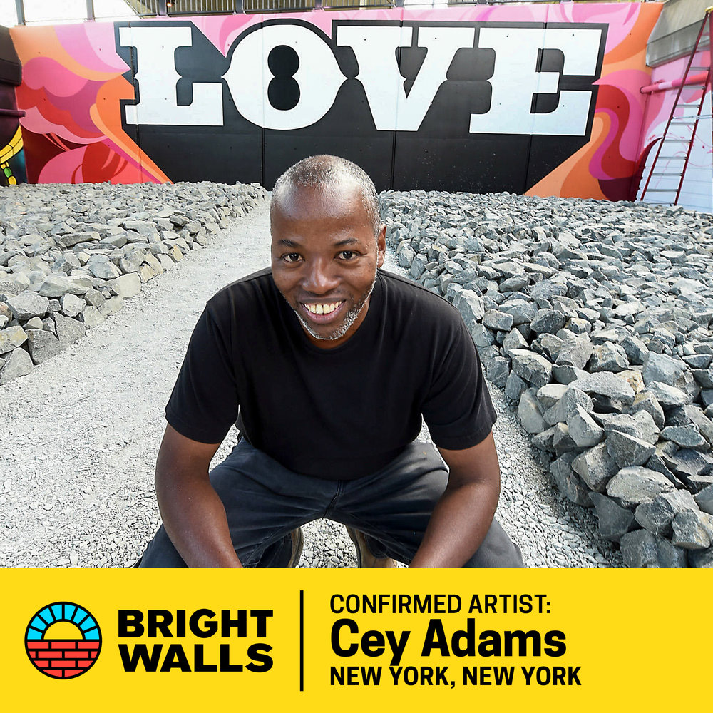 Cey AdamsNew York, New York - Cey Adams, a New York City native, is one of the most influential people in hip-hop design. He started his career as a graffiti artist in New York before going on to work as the Creative Director of hip hop mogul Russell Simmons' Def Jam Recordings.He co-founded the Drawing Board, the label's in-house visual design firm, where he created visual identities, album covers, logos, and advertising campaigns for Run DMC, Beastie Boys, Notorious B.I.G., Maroon 5, and Jay-Z. He exhibits, lectures and teaches art workshops at institutions including MoMA and Brooklyn Museum.