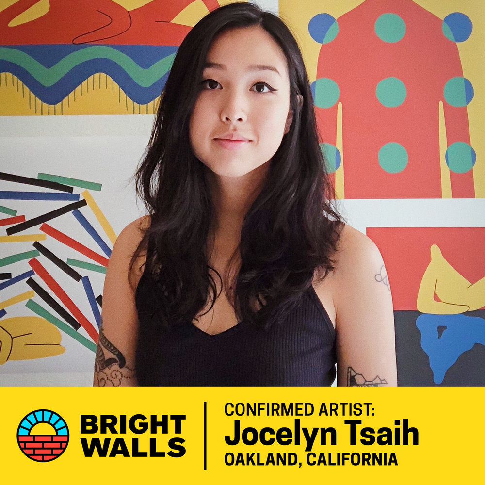 Jocelyn Tsaih - Jocelyn is a Taiwan-born, Shanghai-raised artist based out of Oakland, California. Her work is a reflection on human nature and the intangible aspects of life. She often features an ambiguous character meant to embody the spirit of beings as a whole.Jocelyn has a done work for a range of clients including Nickelodeon, New York Times, AirBnB, Adobe, Conde Nast, and GIPHY. Her whimsical character illustrations have been featured in everything from newspaper articles to music videos and large-scale murals.