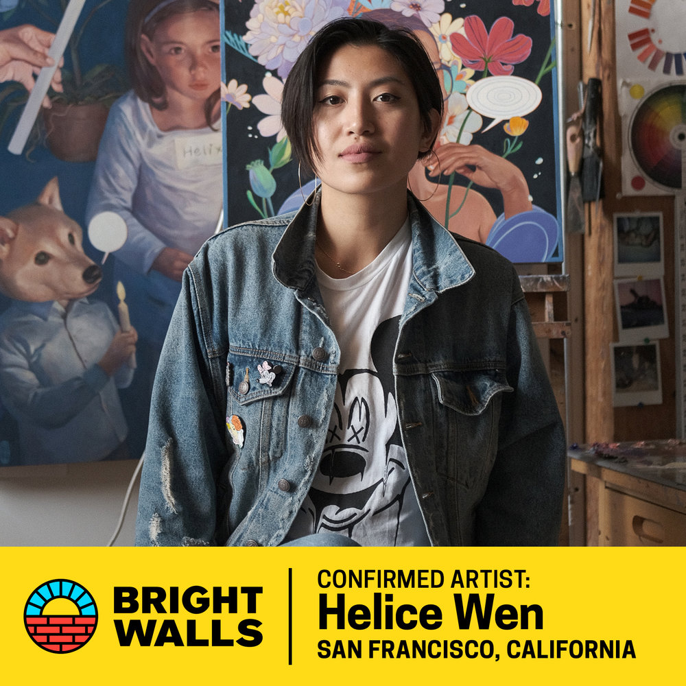 Helice Wen - San Francisco-based artist Helice Wen was born in Shenzhen, China. She discovered her passion at five years old when she began copying the illustrations in children's books to practice drawing.Wen's love for art carried her across the world to the Academy of Art University in San Francisco where she graduated in 2009 and began working as a children's book illustrator. Wen now focuses on creating gallery works having exhibited in in New York, Florida, Melbourne, Los Angeles, and San Francisco.