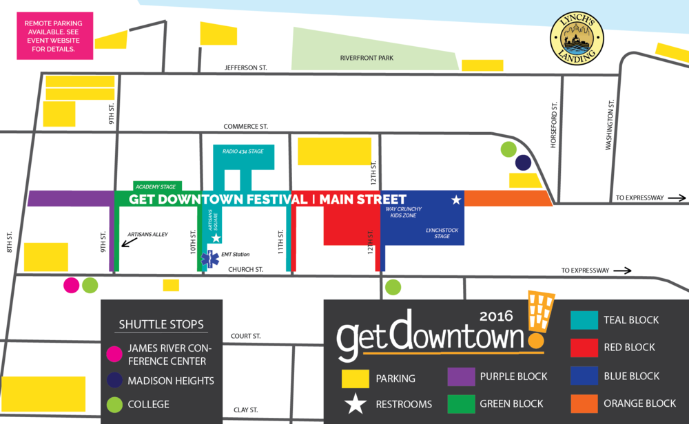 Get Downtown 2016 Map
