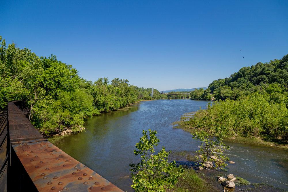 James River in Lynchburg, VA