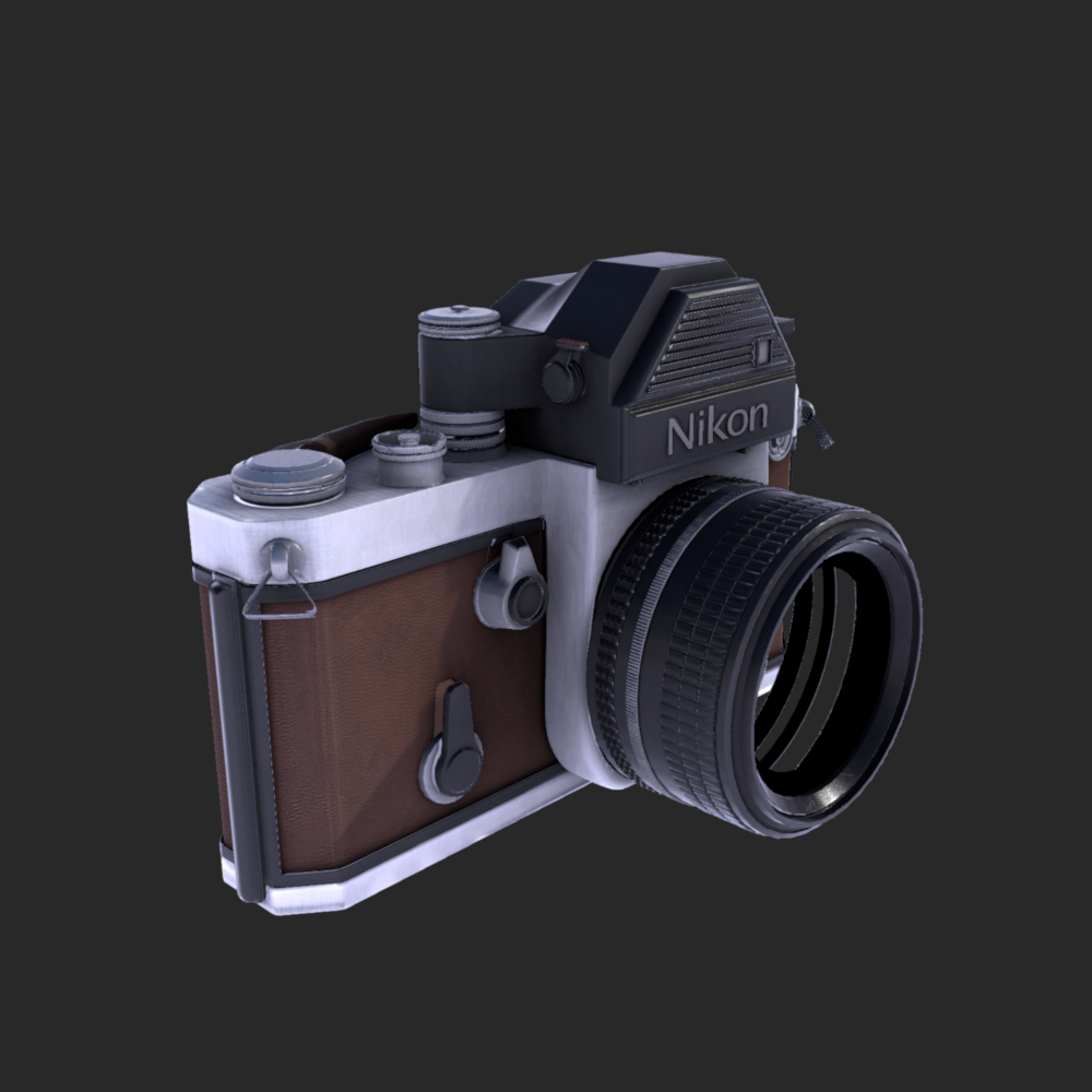I am pleased with the results thus far.   The lens glass model is not present as I plan to create a realistic glass material in the Unreal engine.  Quixel does not allow two-sided materials hence why it looks as if theres a hole through the side of the lens.