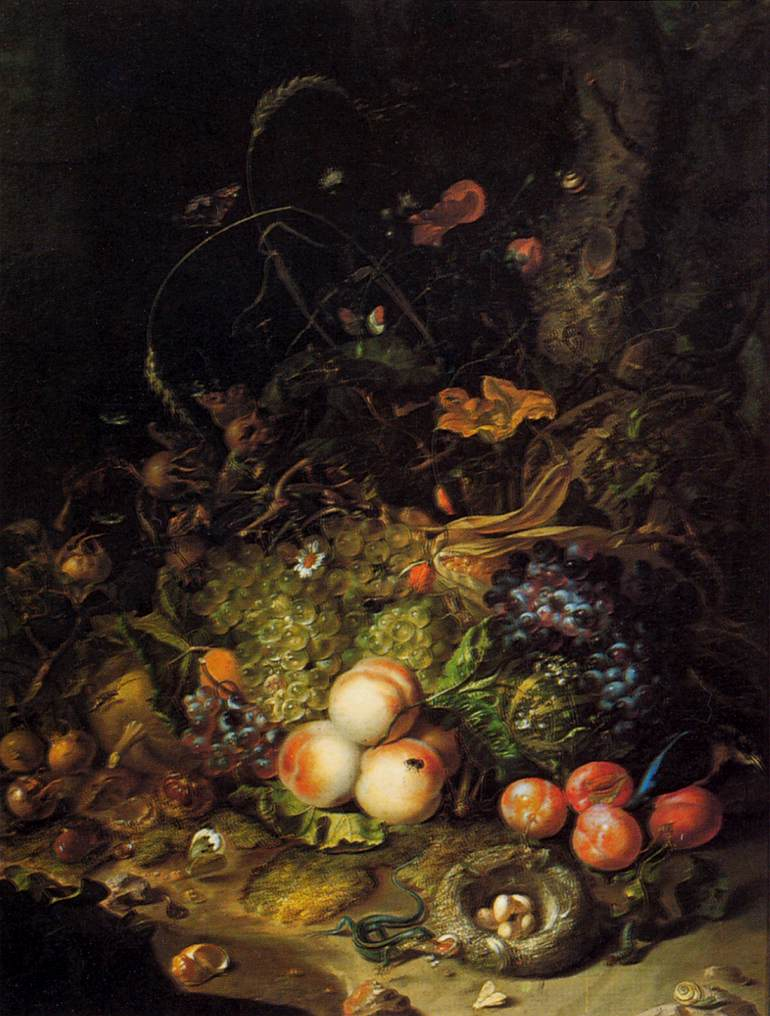 Rachel Ruysch, Flowers, Fruits, and Insects, (1716): oil on canvas.